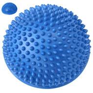 C33513-1 Полусфера массажная круглая надувная (синий) (ПВХ) d-16 см, 10017566, МЯЧИ ГИМНАСТИЧЕСКИЕ