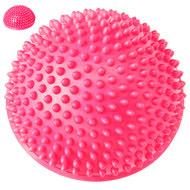 C33513-4 Полусфера массажная круглая надувная (розовый) (ПВХ) d-16 см, 10017569, МЯЧИ ГИМНАСТИЧЕСКИЕ