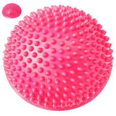 C33513-4 Полусфера массажная круглая надувная (розовый) (ПВХ) d-16 см