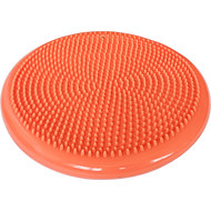 C33514-5 Полусфера + Насос массажная овальная надувная (оранжевая) (ПВХ) d-33см, 10017572, МЯЧИ ГИМНАСТИЧЕСКИЕ