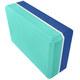E29313-1 Йога блок полумягкий 2-х цветный (синий-бирюзовый) 223х150х76мм., из вспененного ЭВА