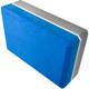 E29313-3 Йога блок полумягкий 2-х цветный (синий-серый) 223х150х76мм., из вспененного ЭВА