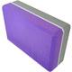E29313-4 Йога блок полумягкий 2-х цветный (фиолетовый-серый) 223х150х76мм., из вспененного ЭВА