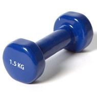 """YGB200 Гантель виниловая """"York"""" 1.5 кг (синяя)  B31384, 10017869, ГАНТЕЛИ И БОДИБАРЫ"""