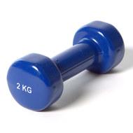 """YGB200 Гантель виниловая """"York"""" 2.0 кг (синяя)  B31385, 10017870, ГАНТЕЛИ И БОДИБАРЫ"""