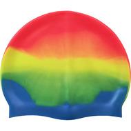 B31518-7 Шапочка для плавания силиконовая (оранж/желт/зел/голубой), 10017956, 12.ПЛАВАНИЕ