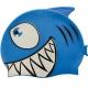 B31515-1 Шапочка для плавания силиконовая с принтом (Синий)