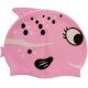 B31515-2 Шапочка для плавания силиконовая с принтом (Розовая)