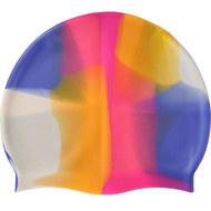 B31518-4 Шапочка для плавания силиконовая (васильково/розовая/оран/белая), 10017969, 12.ПЛАВАНИЕ