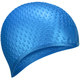 B31519-1 Шапочка для плавания силиконовая Bubble Cap (Синий)