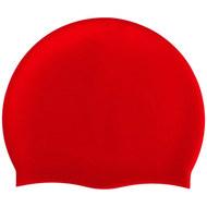 B31520-3 Шапочка для плавания силиконовая одноцветная (Красный), 10017984, Шапочки силиконовые