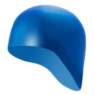 B31521-S Шапочка для плавания силиконовая одноцветная анатомическая (Синий), 10017987, 12.ПЛАВАНИЕ