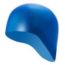 B31521-S Шапочка для плавания силиконовая одноцветная анатомическая (Синий)