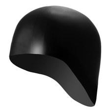 B31521-B Шапочка для плавания силиконовая одноцветная анатомическая (Черный)