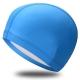 B31516-0 Шапочка для плавания ПУ одноцветная (Голубой)