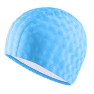 B31517-0 Шапочка для плавания ПУ одноцветная 3D (Голубой), 10017995, Шапочки текстильные