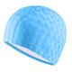 B31517-0 Шапочка для плавания ПУ одноцветная 3D (Голубой)