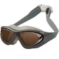 B31537-9 Очки для плавания взрослые полу-маска (Серебро), 10018075, 12.ПЛАВАНИЕ