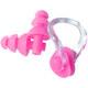 B31574 Набор для плавания, беруши, зажим для носа (розовый)