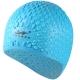 B31552 Шапочка для плавания силиконовая Bubble Cap (голубая)