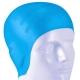B31565 Шапочка для плавания силиконовая анатомическая (голубая)