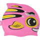 B31573 Шапочка для плавания детская силикон (розовая Рыбка)