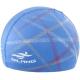 B31567-1 Шапочка для плавания с принтом ПУ (синяя)