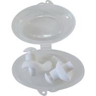 B31575 Беруши силиконовые анатомические в боксе (белые), 10018443, Аксессуары для плавания