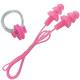 B31576 Набор для плавания беруши на шнурке и зажим для носа (розовый)