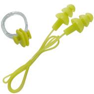 B31576 Набор для плавания беруши на шнурке и зажим для носа (салатовый), 10018449, Аксессуары для плавания