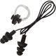 B31576 Набор для плавания беруши на шнурке и зажим для носа (черный)