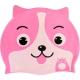 B31573 Шапочка для плавания детская силикон (розовая Собака)