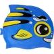 B31573 Шапочка для плавания детская силикон (синяя Рыбка)