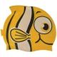 B31573 Шапочка для плавания детская силикон (желтая Рыбка)