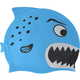B31573 Шапочка для плавания детская силикон (голубая Пиранья)
