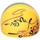 B31556 Шапочка для плавания с принтом ПУ (желтые)