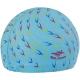 B31561 Шапочка для плавания с принтом ПУ (голубые)