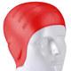 B31565 Шапочка для плавания силиконовая анатомическая (красная)