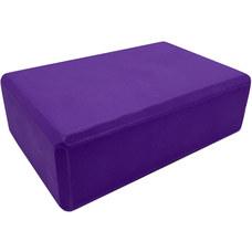 BE100-2 Йога блок полумягкий (фиолетовый) 223х150х76мм., из вспененного ЭВА (A25569)