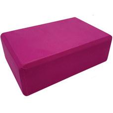 BE100-3 Йога блок полумягкий (малиновый) 223х150х76мм., из вспененного ЭВА (A25570)