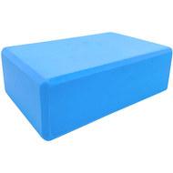 BE100-4 Йога блок полумягкий (голубой) 223х150х76мм., из вспененного ЭВА (A25571), 10018498, РОЛИКИ ДЛЯ ЙОГИ