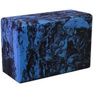 BE200-10 Йога блок полумягкий (синий гранит) 223х150х76мм., из вспененного ЭВА (A25577), 10018504, РОЛИКИ ДЛЯ ЙОГИ