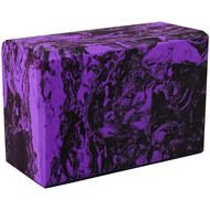 BE200-11 Йога блок полумягкий (фиолетовый гранит) 223х150х76мм., из вспененного ЭВА (A25578), 10018505, РОЛИКИ ДЛЯ ЙОГИ