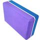 E29313-5 Йога блок полумягкий 2-х цветный (фиолетовый-синий) 223х150х76мм., из вспененного ЭВА