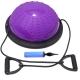 BOSU011-5 Полусфера BOSU гимнастическая, 46см., (фиолет) в комплекте с эспандером и насосом (B31647)