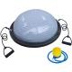 BOSU033-14 Полусфера BOSU гимнастическая, 58см., (серая) в комплекте с эспандером и насосом (B31655)