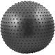 FBM-55-8 Мяч гимнастический Anti-Burst массажный 55 см (черный)