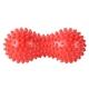 B32130 Массажер двойной мячик с шипами (красный) (ПВХ)