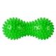 B32130 Массажер двойной мячик с шипами (зеленый) (ПВХ)