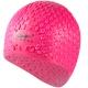 B31552 Шапочка для плавания силиконовая Bubble Cap (розовая)
